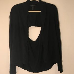 BCBG Open Back Waterfall Cardigan